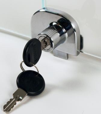248 Double Glass Door Lock Nichelocks